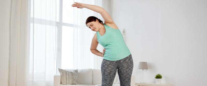Stretching Woman