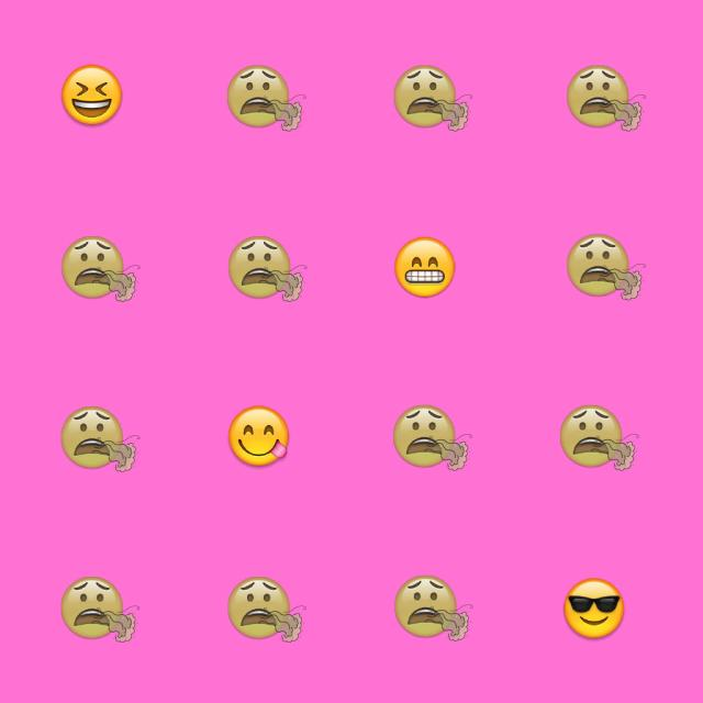 Animated emojis showing an array of expressions